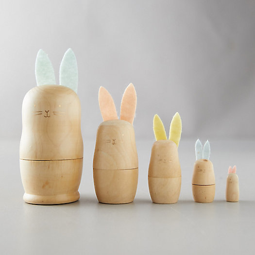 View larger image of Wood Nesting Easter Bunnies