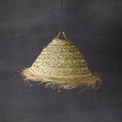 Seagrass Half Dome Pendant