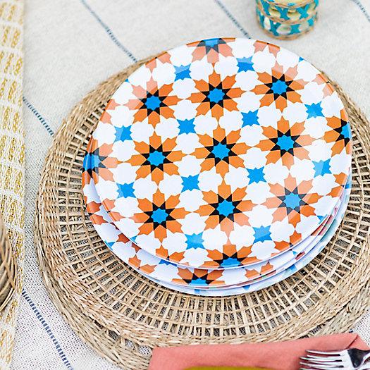 View larger image of Tile Print Melamine Plate, Orange