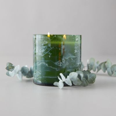 Linnea's Lights Marble Swirl Candle, Crushed Mint