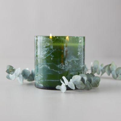 Linnea's Lights Marble Swirl Candle, Eucalyptus
