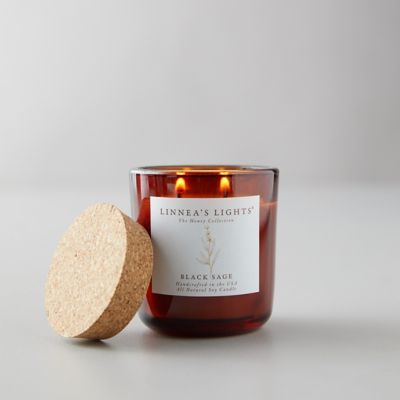 Linneas Lights Honey Collection Candle, Black Sage