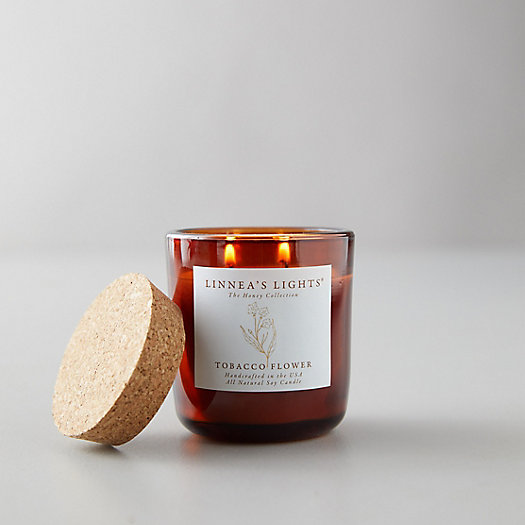 View larger image of Linneas Lights Honey Collection Candle, Tobacco Flower
