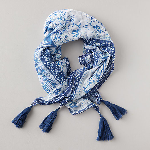 View larger image of Indigo Floral Scarf
