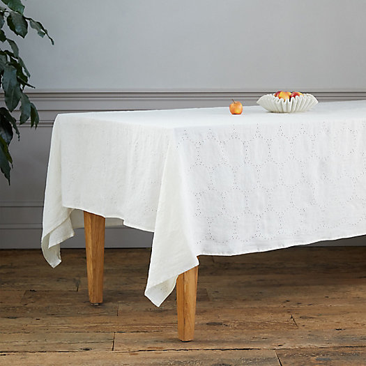 View larger image of Linen Eyelet Tablecloth