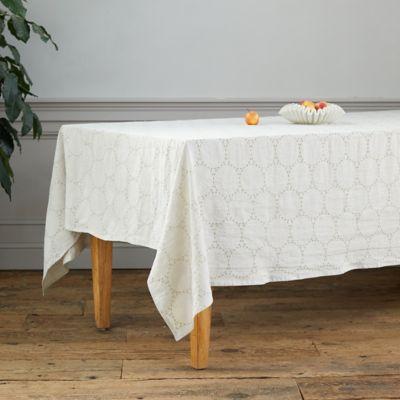 Linen Eyelet Tablecloth