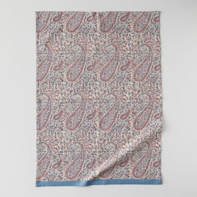 Topaz Paisley Cotton Tea Towel
