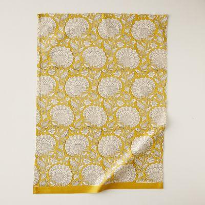Citrine Florals Tea Towel
