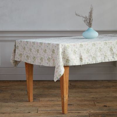 Lithuanian Linen Tablecloth, Botany Floral