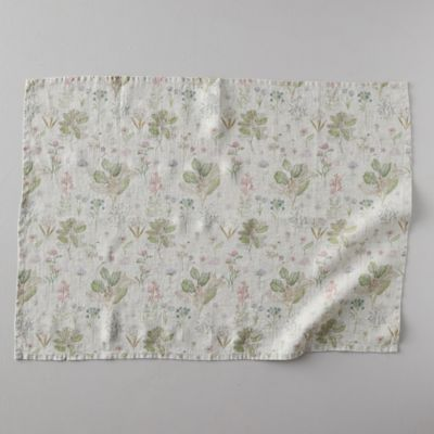 Lithuanian Linen Tea Towel, Botany Floral