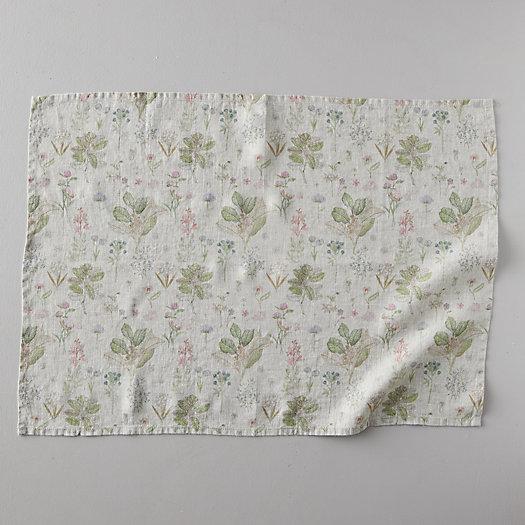 View larger image of Lithuanian Linen Tea Towel, Botany Floral