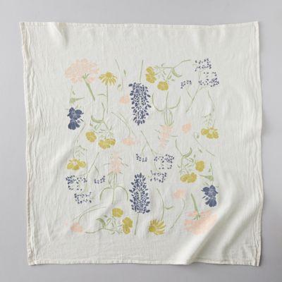 Southern Regional Wild Flower Tea Towel