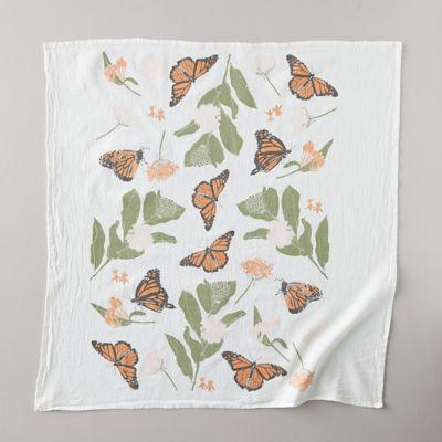 Monarchs + Milkweed Tea Towel