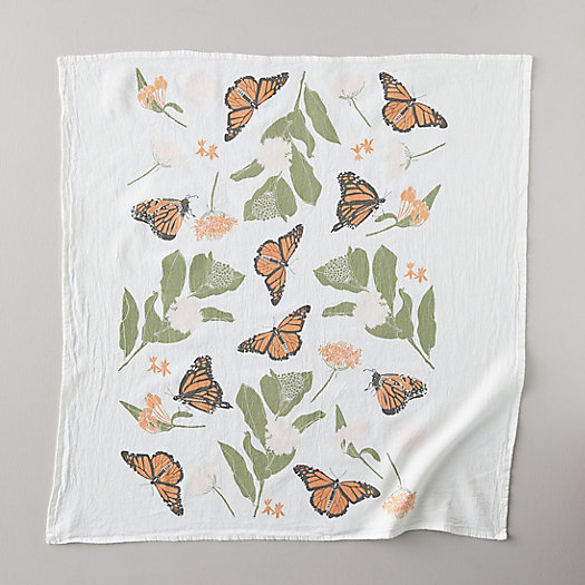 View larger image of Monarchs + Milkweed Tea Towel