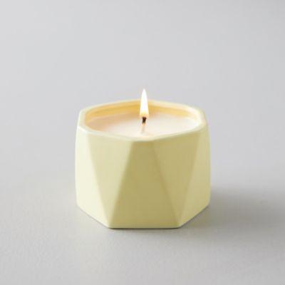 Geo Ceramic Candle, Pineapple Cilantro