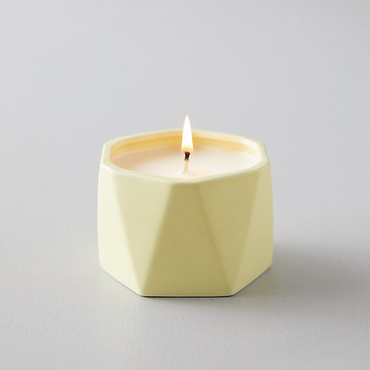 View larger image of Geo Ceramic Candle, Pineapple Cilantro