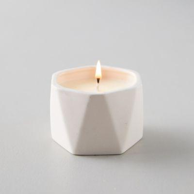 Geo Ceramic Candle, Coconut Milk Mango