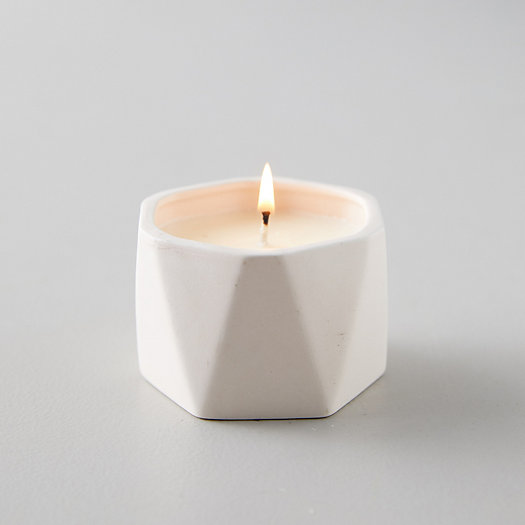 View larger image of Geo Ceramic Candle, Coconut Milk Mango