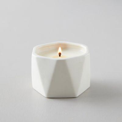 Geo Ceramic Candle, Gardenia