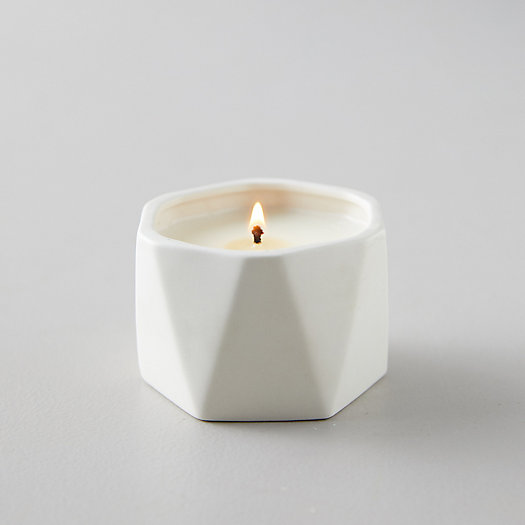 View larger image of Geo Ceramic Candle, Gardenia