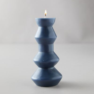 Geo Pillar Candle, Medium