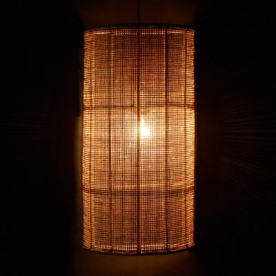 Webbed Rattan Wall Shade