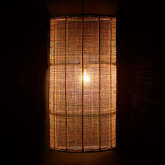 View larger image of Webbed Rattan Wall Shade