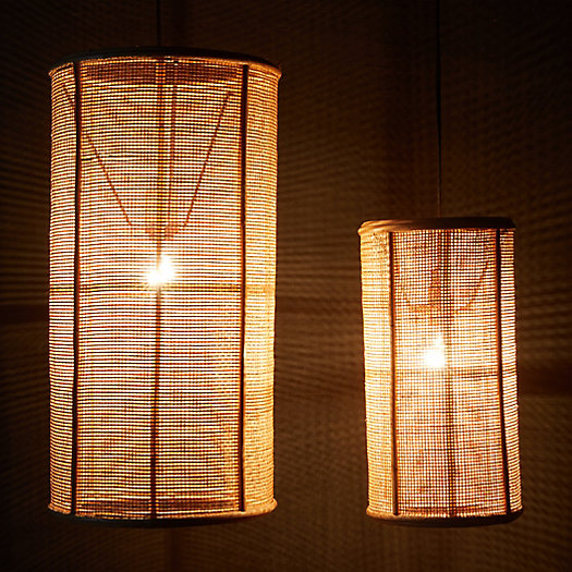 View larger image of Webbed Rattan Shade