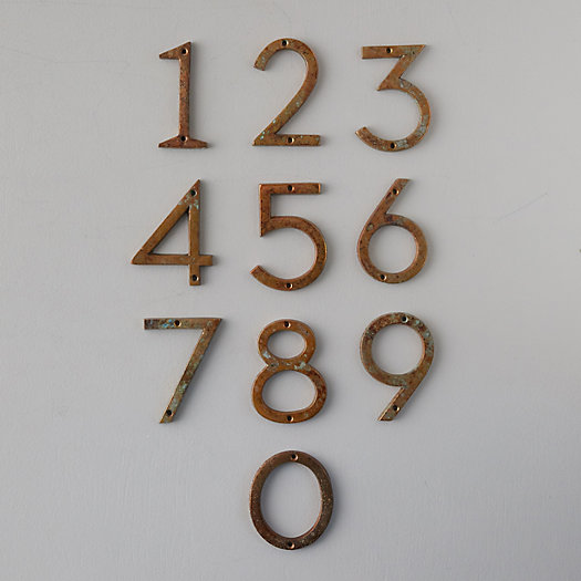 View larger image of Oxidized Iron House Numbers