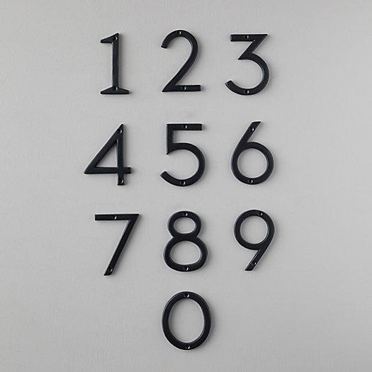 View larger image of Matte Black House Number