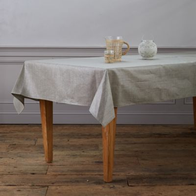 Water-Resistant Linen Tablecloth
