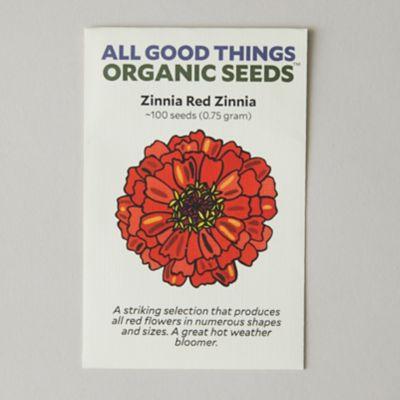 Red Zinnia Seeds