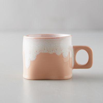 Porcelain Color Drip Mug, Pink