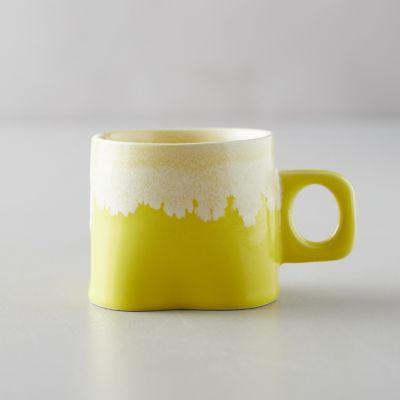 Porcelain Color Drip Mug, Yellow