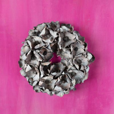 Dried Palm Pod Wreath