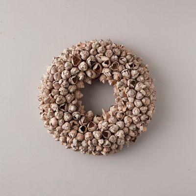 Dried Coco Fruit Pods Wreath