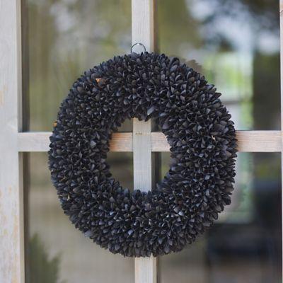 Dried Bakuli Pod Wreath