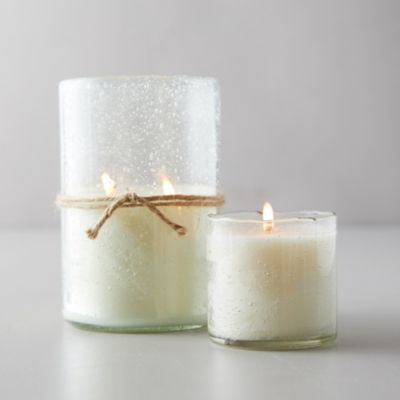Bubble Glass Candle, Honeysuckle
