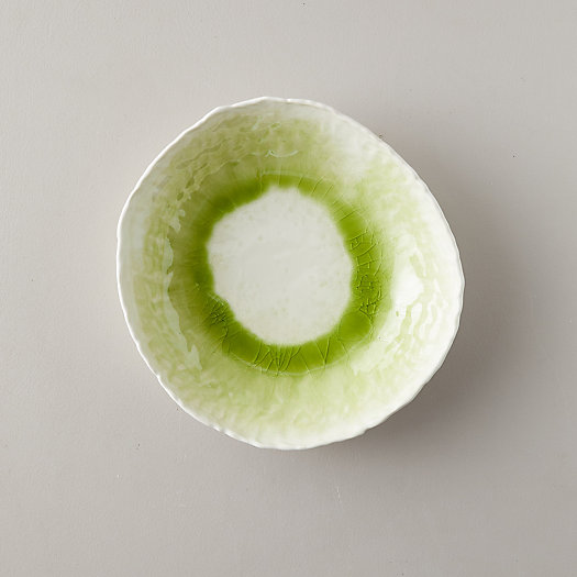 View larger image of Source and Tradition Porcelain Lime Green Crackle Bowl