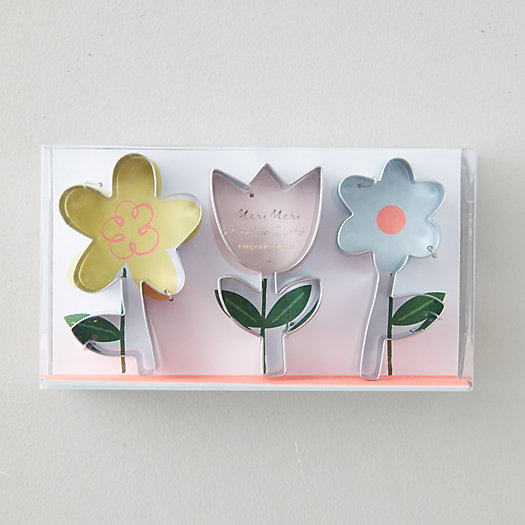 View larger image of Flower Cookie Cutters, Set of 3