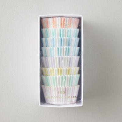 Pastel Stripe Cupcake Holders, Set of 100