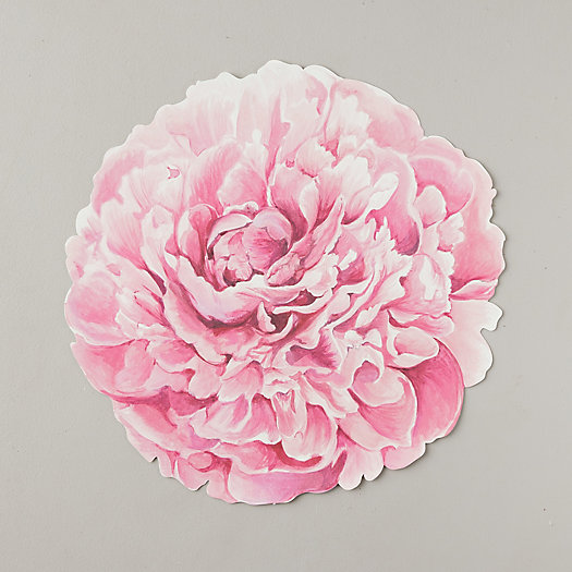 View larger image of Pink Peonies Paper Placemats, Set of 12