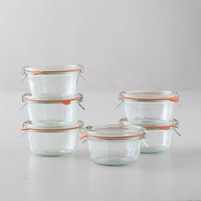 1.5L Weck Short Mold Jars, Set of 6