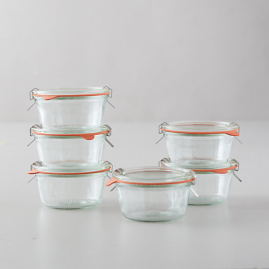 View larger image of 1.5L Weck Short Mold Jars, Set of 6