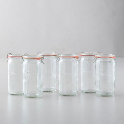 0.25L Weck Cylinder Jars, Set of 6