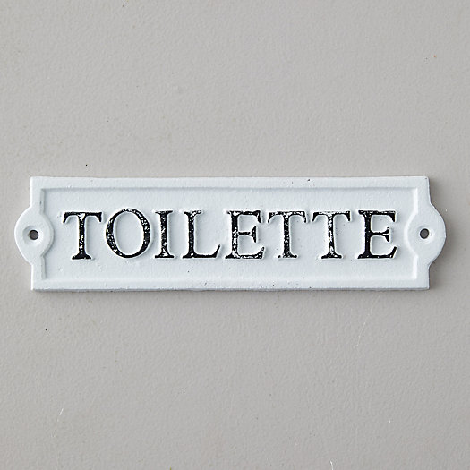 View larger image of Cast Iron Toilette Sign