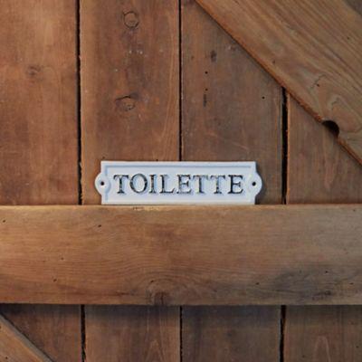 Cast Iron Toilette Sign