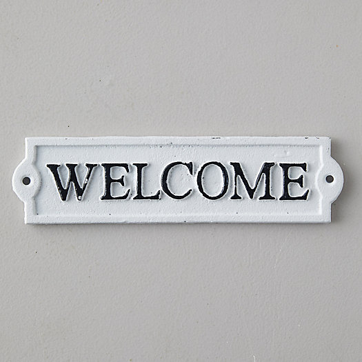 View larger image of Cast Iron Welcome Sign