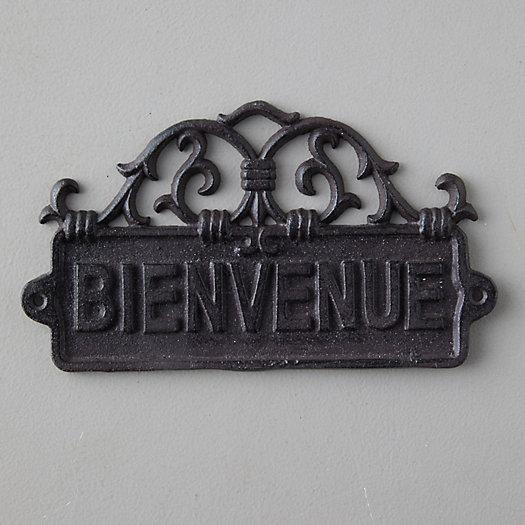 View larger image of Cast  Iron Bienvenue Sign
