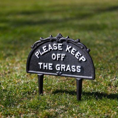 Cast Iron Keep Off Grass Sign